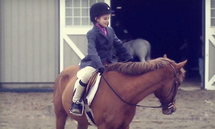 J.L.M. Equestrian - Scituate: 5 or 10 Half-Hour Group Horseback-Riding Lessons at J.L.M. Equestrian in North Scituate (Up to 66% Off)