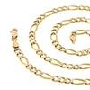 14K Gold Italian Diamond-Cut Figaro Chain