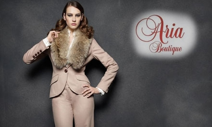 Aria Boutique - Downtown: $25 for $50 Worth of Designer Clothing and Accessories at Aria Boutique