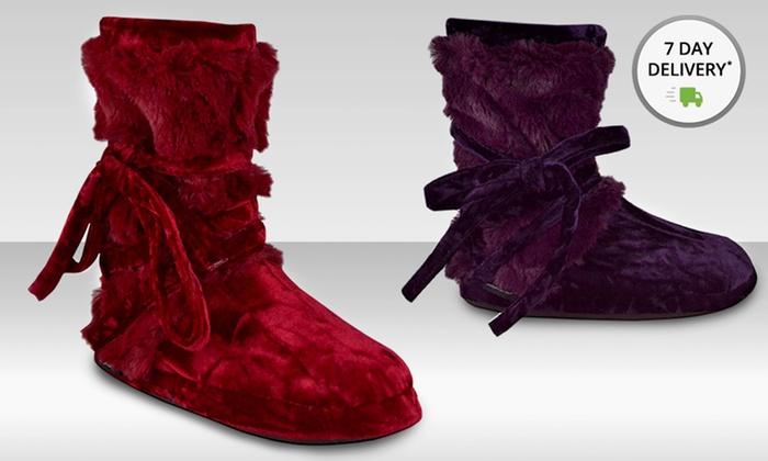 Muk Luks Women's Tonal Fur-Wrap Boot : Muk Luks Women's Tonal Fur-Wrap Boot. Multiple Colors Available. Free Returns.