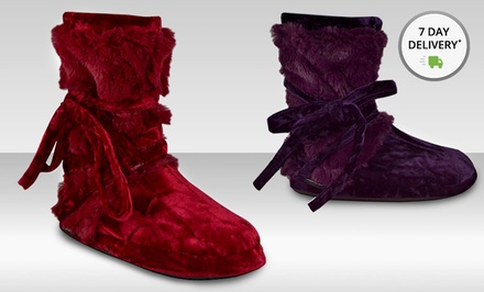 Muk Luks Women's Tonal Fur-Wrap Boot. Multiple Colors Available. Free Returns.