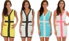 Lyss Loo Color-Contrast Sleeveless Dress With Pockets: Lyss Loo Color-Contrast Sleeveless Dress With Pockets