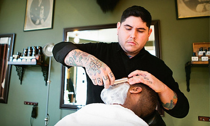 The Modern Man Barber Shop - Vernon: $32 for a Haircut-and-Shave Package at The Modern Man Barber Shop (Up to $64 Value). Four Options Available.