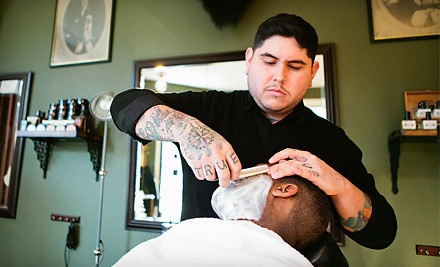 Haircut-and-Shave Package Valid Until March 30, 2012 - The Modern Man Barber Shop in Portland