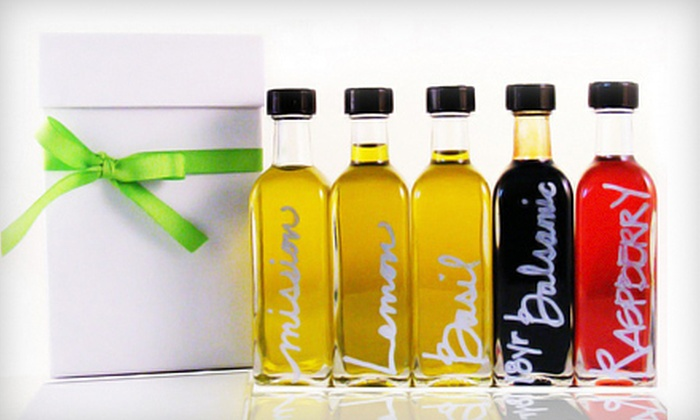Oliovera: $27 for a Five Mini-Bottle Sampler of Olive Oils and Vinegars from Oliovera ($54 Value)