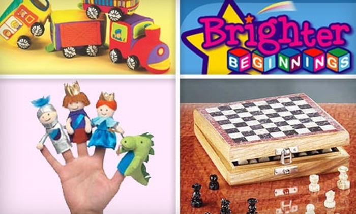 Brighter Beginnings: $20 for $50 Worth of Toys and Games from Brighter Beginnings