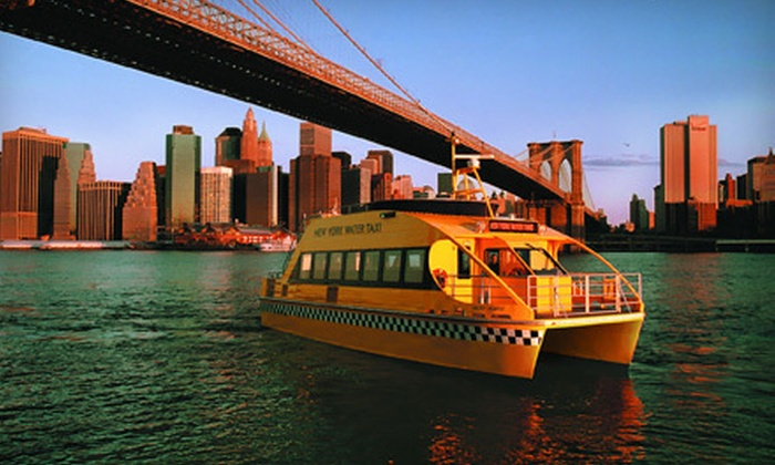 """New York Water Taxi and Circle Line Downtown - Financial District: $13 for Choice of 60-Minute Statue of Liberty Tour, Statue by Night, or """"SHARK"""" Speedboat Trip from New York Water Taxi and Circle Line Downtown (Up to $27 Value)"""