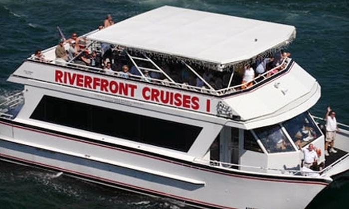 Riverfront Cruise and Anticipation Yacht Charters - Downtown Fort Lauderdale: $25 for Two Cruise Admissions, Two Hot Dogs, Two Bags of Chips and Open-Bar Access from Riverfront Cruise and Anticipation Yacht Charters ($50 Value)