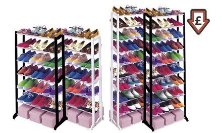One or Two Seven- or Ten-Tier Shoe Racks