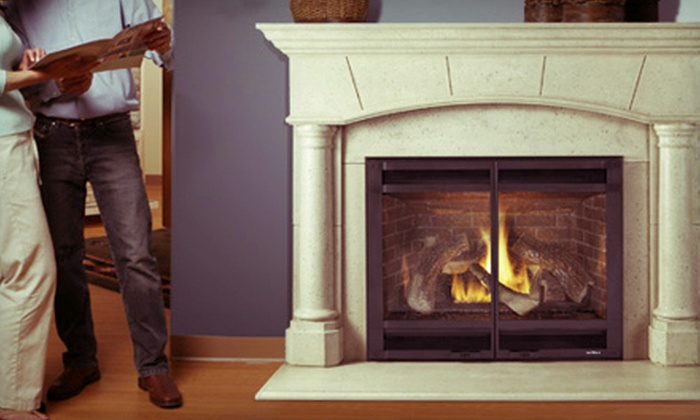 Fireside Hearth & Home - Madison: $886 a Novus 33 Gas Fireplace with Standard Vent Kit from Fireside Hearth & Home ($1,772 Value)
