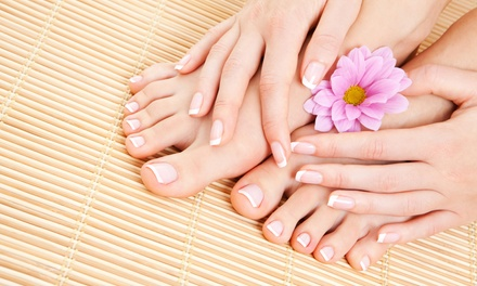 A Spa Manicure and Pedicure from Lavish Beauty Bar (55% Off)