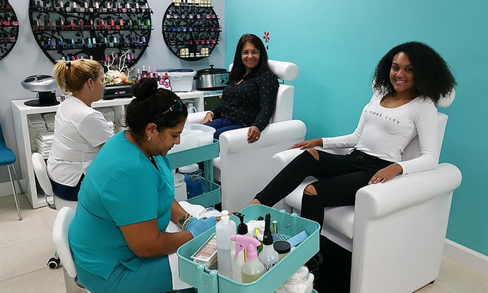 Angels Esthetic Spa & Lounge - Hialeah: Organic No-Chip Manicure Packages at Angels Esthetic Spa & Lounge (Up to 44% Off). Three Options Available.