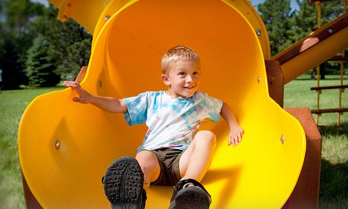 Rainbow Play Systems - Multiple Locations: Three Kids' Indoor-Play-Park Outings at Rainbow Play Systems (Half Off). Eight Options Available.