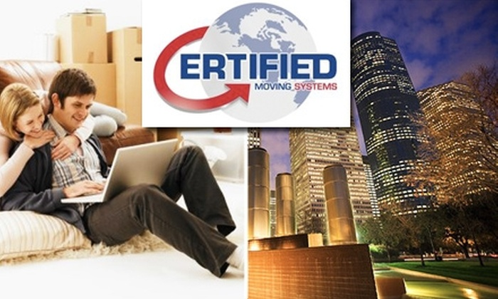 Certified Moving Systems - Houston: $150 for Truck, Up to 3 Movers, and 4 Hours from Certified Moving Systems (Up To $399 Value)