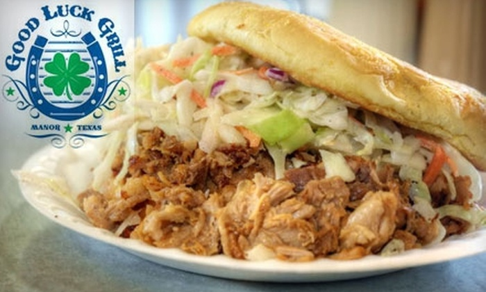 Good Luck Grill - Travis Northeast: $10 for $20 Worth of Comfort Fare at Good Luck Grill in Manor