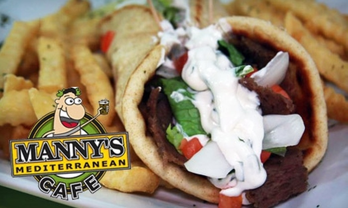 Manny's Mediterranean Cafe - North Charleston: $7 for $15 Worth of Greek Fare and Drinks at Manny's Mediterranean Cafe in North Charleston