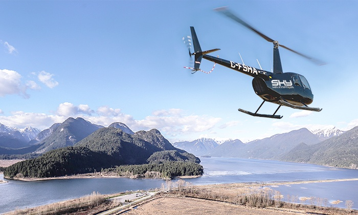 SKY Helicopters - Coast Mountains and Lakes: C$31.95 for a SKY Helicopters Discover Flight for One on April 26, 2014