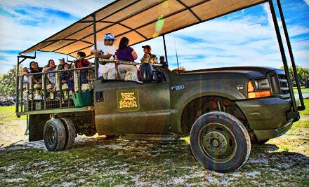 Safari in a Customized Safari Truck  - Safari Wilderness Ranch in Lakeland