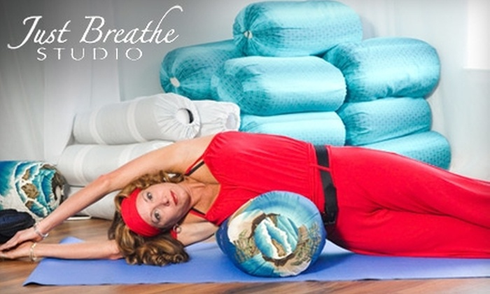 Just Breathe Studio - Aiken: $27 for Five Yoga, Pilates, Tai Chi, or Fusion Classes at Just Breathe Studio