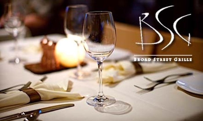 Broad Street Grille - Downtown Chattanooga: $15 for $35 Worth of Upscale Cuisine and Drinks at the Broad Street Grille