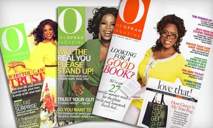 """O, The Oprah Magazine"" - Overland Park: $10 for a One-Year Subscription to ""O, The Oprah Magazine"" (Up to $28 Value)"