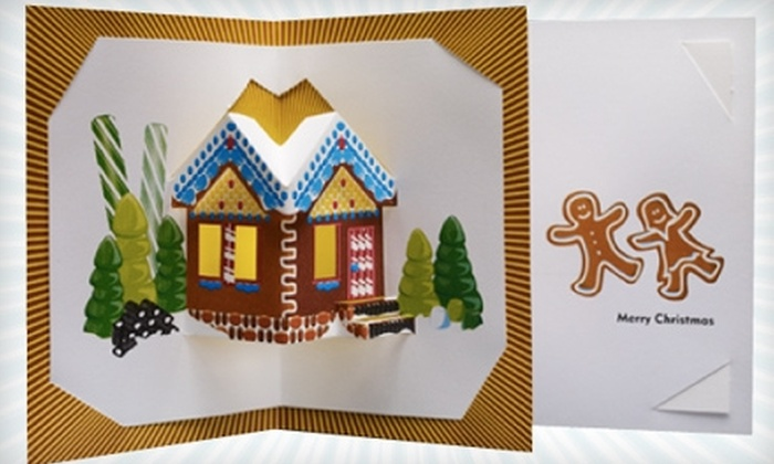 kepo: $10 for Pack of Pop-Up Christmas Greeting Cards from kepo ($20 Value)
