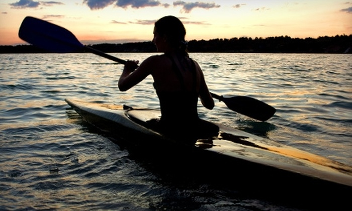 Pinky's Kayak Rental - Clear Lake: $32 for a Guided Moonlight Kayak Tour from Pinky's Kayak Rental ($65 Value)