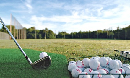 10 or 20 Small Buckets of Range Balls at Woodland Meadows Golf Resort (Up to 55% Off)
