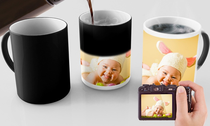custom photo mugs or magic mugs from printerpix groupon. Black Bedroom Furniture Sets. Home Design Ideas