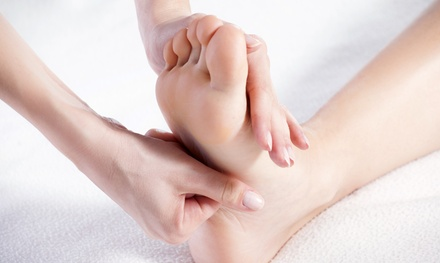 $25 for 60-Minute Foot and Back Massage with Herbal Foot Soak at Angels Feet ($50 Value)