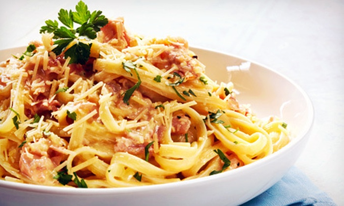 Gusti Italian Grill - Rocky River: $14 for an Italian Meal with Sides or Soups and Fountain Drinks for Two at Gusti Italian Grill (Up to $29.30 Value)