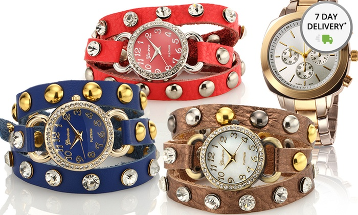 Geneva Platinum Watches: Geneva Platinum Watches. Multiple Colors Available. Free Returns.