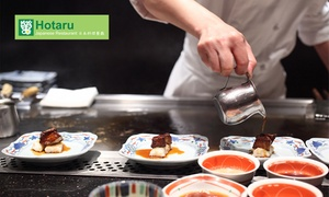 Hotaru: 10-Course Japanese Degustation + Glass of Wine & Cup of Sake for 1 ($35) or 2 People ($69) at Hotaru (Up to $178 Value)