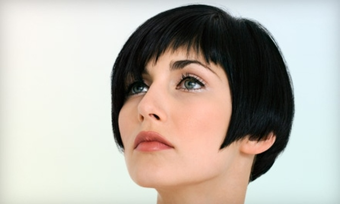 Creme Colour Lounge - Chino Hills: $70 for a Women's Cut and Color ($140 Value) or $60 for a Men's Cut and Color ($120 Value) at Creme Colour Lounge in Chino Hills
