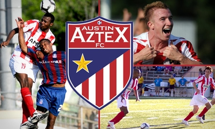 Austin Aztex - Downtown: $15 for Two General-Admission Adult Tickets to an Austin Aztex FC Soccer Game ($30 Value). Choose from Two Dates.