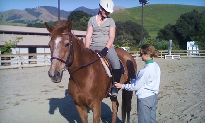 Leap of Faith Farms - Pine Creek: $75 for Two Horseback-Riding Lessons at Leap of Faith Farms in Walnut Creek ($150 Value)