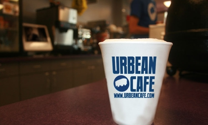 Urbean Café - Multiple Locations: $5 for $10 Worth of Coffee, Treats, and More at Urbean Café