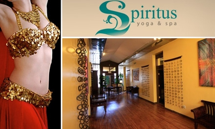 Spiritus Yoga & Spa - Downtown Riverside: $29 for One Month of Unlimited Belly-Dancing, Burlesque, and Zumba Classes at Spiritus Yoga & Spa  ($99 Value)