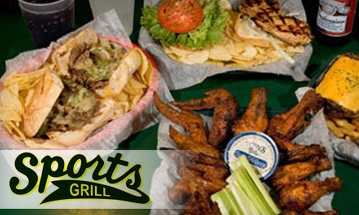 Sports Grill - Multiple Locations: $7 for $15 Worth of American Fare and Drinks at Sports Grill
