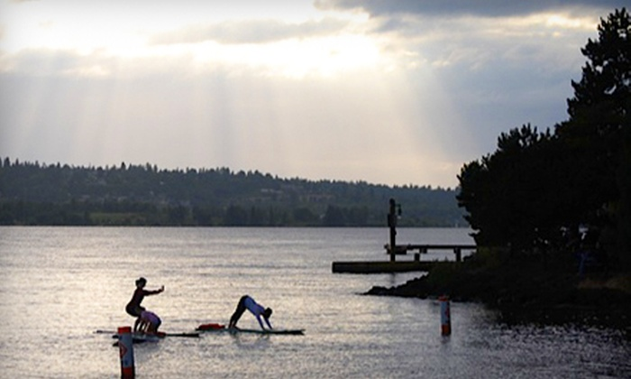 Northwest Paddle Surfers - Moss Bay: $39 for Two Standup-Paddleboard Yoga Sessions from Northwest Paddle Surfers in Kirkland ($80 Value)