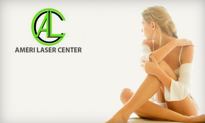 Ameri Laser Center - Downers Grove: $99 for Three Laser Hair-Removal Treatments at Ameri Laser Center in Downers Grove