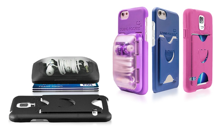 new product 6bbc9 c6afc Sound Pockets Opening Act Earbud Storage Smartphone Case | Groupon
