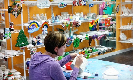 $20 Groupon for Paint-and-Take Plaster Pottery and Figurines - Painting Fun Spot in Fort Wayne