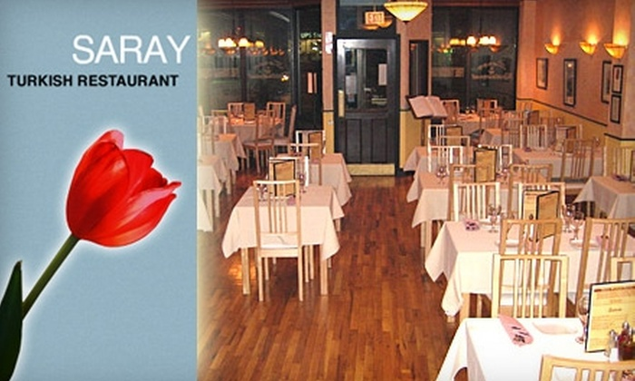 Saray Restaurant - Brighton: $12 for $25 of Mediterranean and Turkish Fare at Saray Restaurant