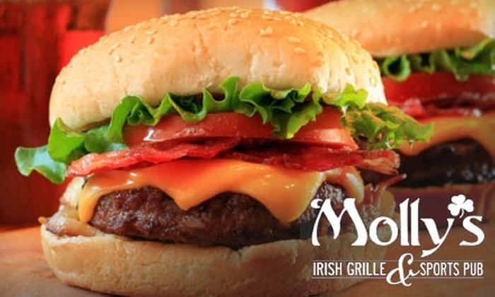 Mollys Irish Grille and Sports Pub - Bethlehem: $10 for $20 Worth of Pub Grub and Drinks at Molly's Irish Grille & Sports Pub
