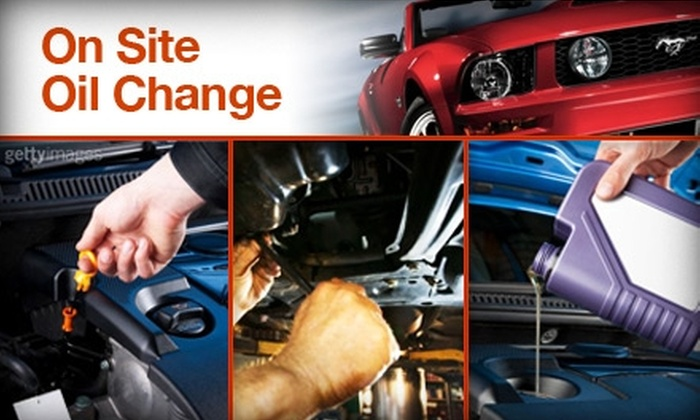 On Site Oil Change - Albuquerque: $27 Oil Change at a Location of Your Choice from On Site Oil Change ($58 Value)