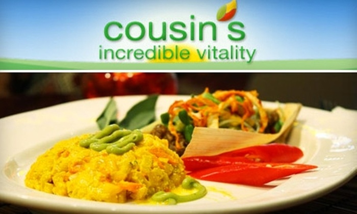 Cousin's Incredible Vitality - Irving Park: $10 for $20 Worth of Organic Vegan Fare Served Raw at Cousin's Incredible Vitality