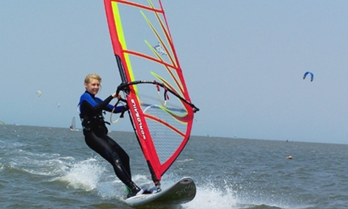 Sailworld Cape Cod - Bourne: $65 for a Three-Hour Introductory Group Windsurfing Lesson with Sailworld Cape Cod in Buzzards Bay ($125 Value)
