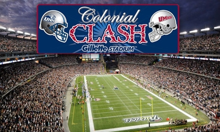 Gillette Stadium - Boston: $12 for One End-Zone Ticket to UMass vs. UNH Colonial Clash at Gillette Stadium on Saturday, October 23, at 3:30 p.m. ($25 Value)