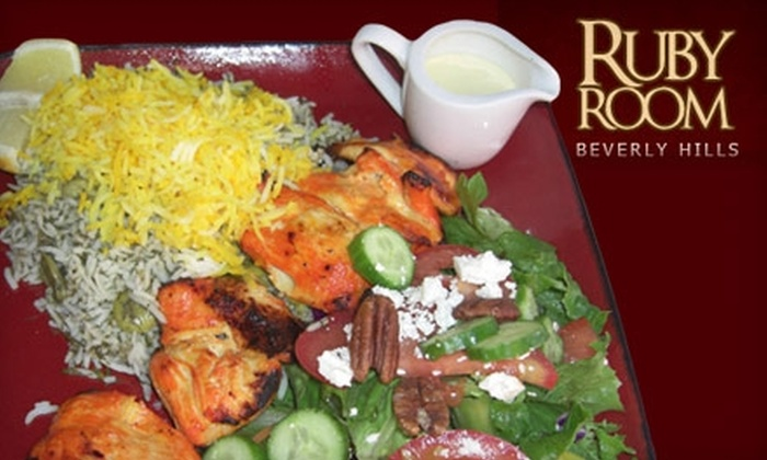 Ruby Room Restaurant - Beverly Hills: $15 for $30 Worth of French, Persian, and Italian Fare and Drinks at Ruby Room Restaurant